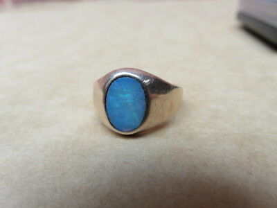 Old 9Ct Rose Gold Opal Ring Scrap Or Not