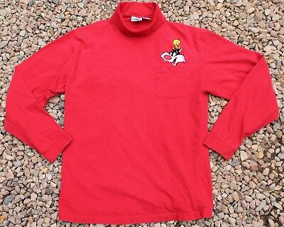 Acme Clothing 90s Looney Tunes L-XL Sylvester Tweety Red Turtleneck Shirt VTG