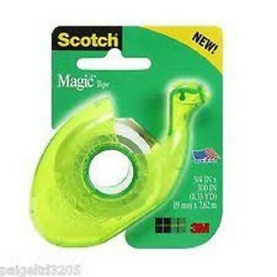 (4 PACK) Scotch Magic Tape #106  3/4 in x 300 inches with Refillable Dispenser