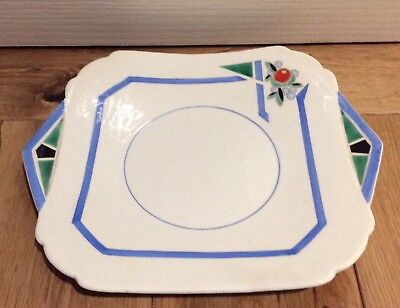 Shelley Art Deco Sandwich Plate 11755 Truncated J pattern