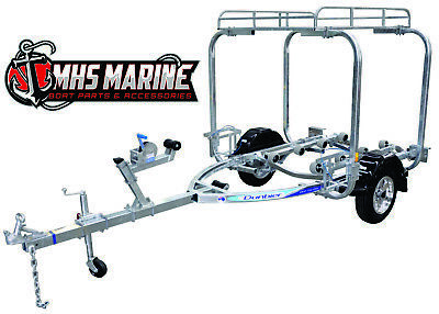 Dunbier Trailer Pack Rack Fully Galvanized most brands of small boat trailers