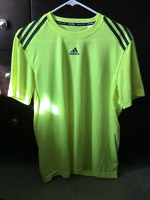adidas Men's CLIMALITE Short Sleeve Tee Athletic Relaxed Fit Solid T-Shirt