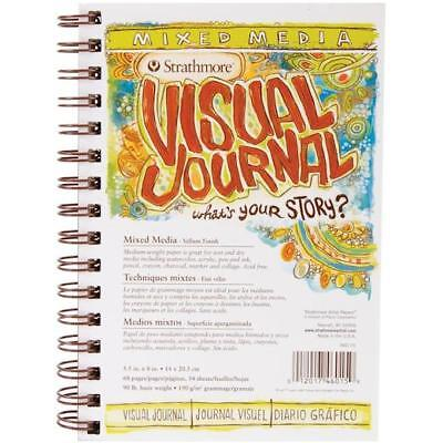 "Strathmore Visual Journal Mixed Media Vellum 5.5""x8"" - 34 Sheets 460150"