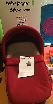 Baby Jogger Deluxe Carrycot (with Box/Adaptors)