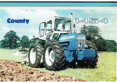 County 1454 Tractors Leaflet Probably late 1960's quite rare