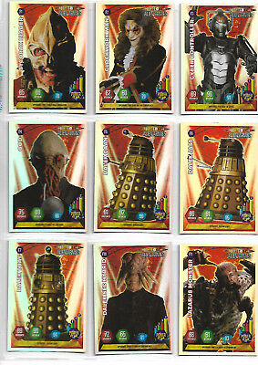 Doctor Who Alien Armies Near Complete Super Foil F1 - F20 Card Set - PANINI