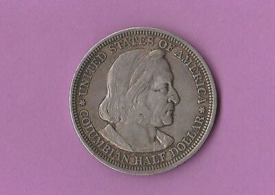 1893 US  Columbian Exposition 90% Silver Coin KM# 117