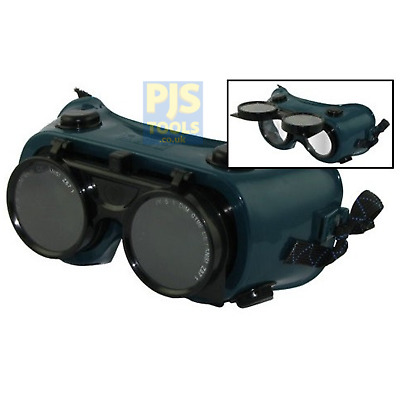 Flip up 2in lense shade 5 green gas welding & brazing goggles