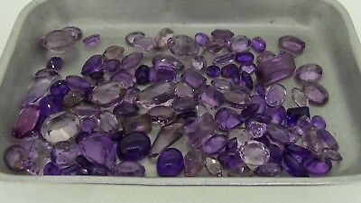 mixed lot of natural amethyst 211ct Genuine Loose Gemstones NR