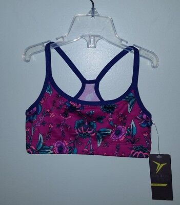 75c61c519e2c1 Old Navy Girls 6-7 Athletic Cami Sports Bra PINK FLORAL Gymnastics Dance   157218