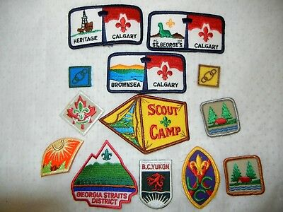 BOY SCOUT BSA LOT of  PATCHES X THIRTEEN (13) SCOUTS CANADA USA CAMPING JAMBOREE