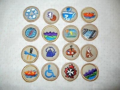 BOY SCOUT BSA LOT of  PATCHES X SIXTEEN (16) SCOUTS CANADA & USA