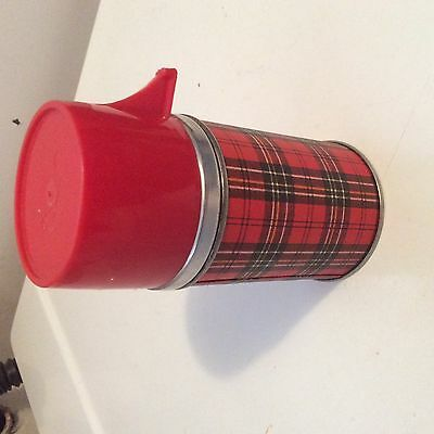 Vintage Plaid Thermos Great Shape!