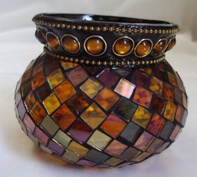 PartyLite GLOBAL FUSION Mosaic Votive/Tealight Candle Holder