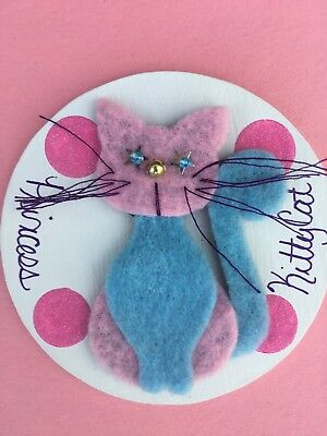 New Handmade Cat Wooden Felt Magnet Perfect Gift for Cat Lovers USA