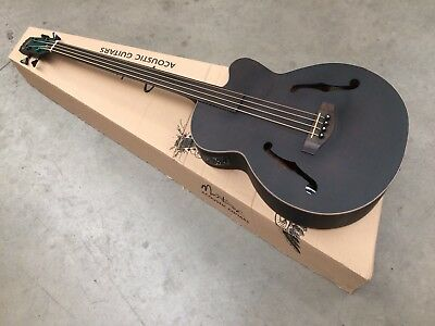 Martinez Jazz Hybrid Acoustic-Electric Bass Guitar - Hump over Body - UNPLAYABLE