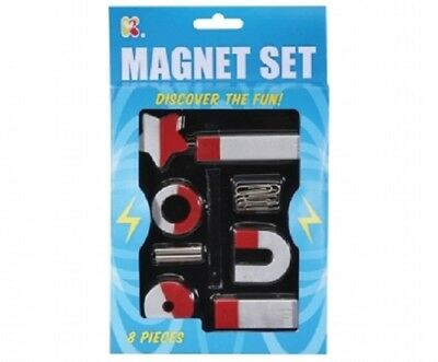 Magnet Set - Sc151 8 Piece Different Shaped Magnets Laern About North South Pole