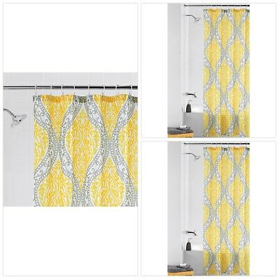 Delicieux Mainstays Yellow Damask Shower Curtain