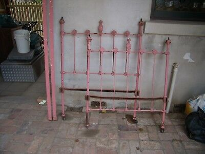 antique brass and cast iron single bed