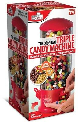 Handy Gourmet Jb6662 Triple Candy Machine, Red And ClearHandy Gourmet Jb6662