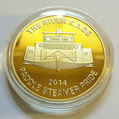 "2014 ""The River Kings"" Certified 1 Oz Gold Coin, Paddle Steamer, Boat, Murray"