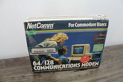 Commodore 64/128 Communications Modem NetComm. Very Rare.
