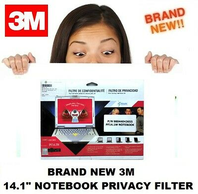 "Brand New 3M Privacy Notebook Screen Filter 14.1"" Widescreen"