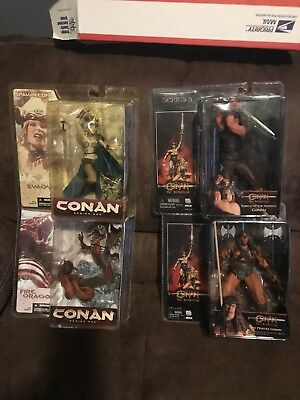 Conan the Barbarian - 4 action figures new in packaging