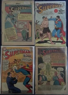 Huge Lot of 30+ Superman #56-421 Silver Bronze DC Comics Batman JLA Vintage