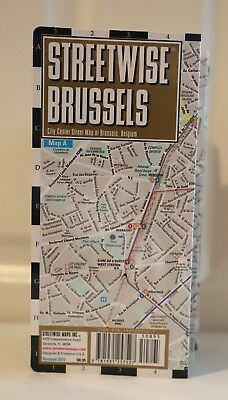 NEW! RARE STREETWISE Brussels Map -City Center Street Map + Metro ...