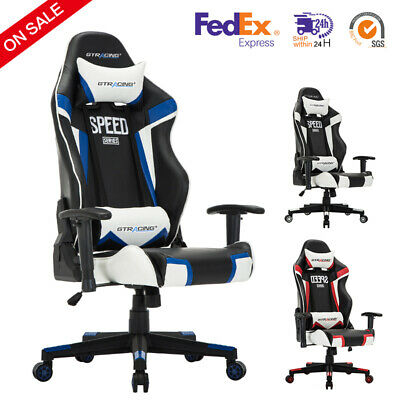 GTRacing Ergonomic Design High Back Gaming Chair PU Leather Recliner Chairs