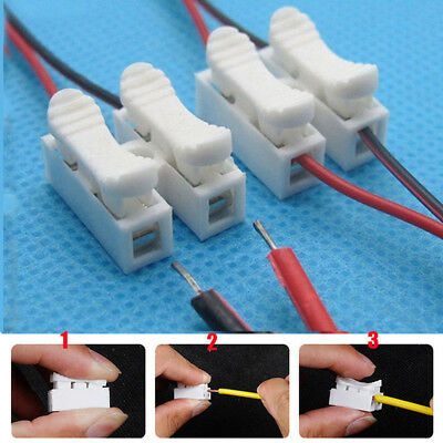 30Pcs Quick Splice Lock Wire Electrical Cable Connector Self Locking Terminal