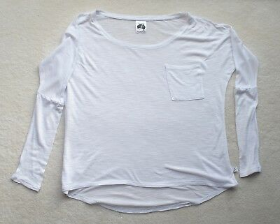 Energetiks White Long Sleeve Warm Up Top  - Women's Adult X-Small
