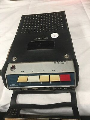 Vintage Sony TC-110A Solid State Tapecorder Cassette Recorder Tape Player