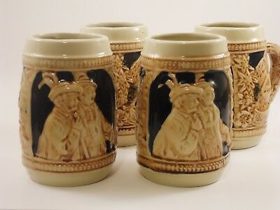 GERZ W. GERMANY 7 STEIN JAGERS (German Beer Stein) SET!!!