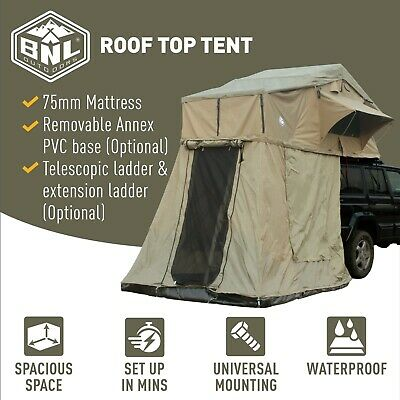 PREMIUM Roof Top Tent With Annex for 4WD Offroad : (RRP: $1599.00) Now$685