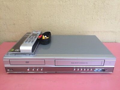 Serviced LG V-271 Combo VCR DVD player + Video Recorder + Remote + RCA VHS