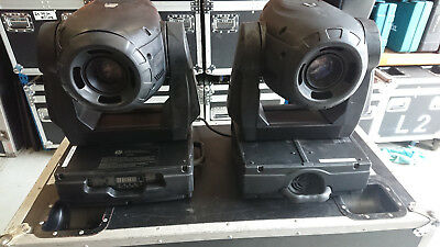 """4x Elation design spot 250's professional moving fixture """"s in Roadcases"""