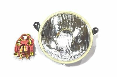 Vespa Headlight Head Lamp Assembly With Holder  Px 150 Efl Scooter @aus