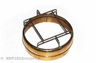 """Brand New Brass Made Motorcycle 7"""" Headlamp Beam Outer Rim Plus Grill @aus"""