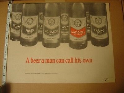 Rare 1967 National Bohemian Beer Newspaper Ad Baltimore Brewing Mr Natty Boh