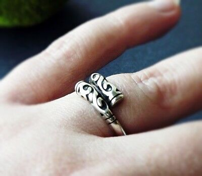 Unique Ancient Celtic Vintage Silver Color Adjustable Mythic Ring Nickel Free