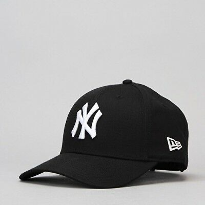 New 9Forty Curved Peak New York Ny Yankees Adjustable Baseball Cap In Black