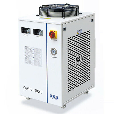 AC 1P 220V S&A CW-FL-500AN Industrial Water Chiller for Cooling 500W Fiber Laser