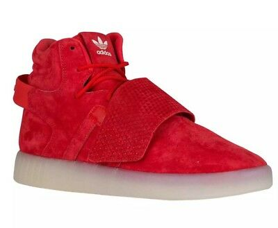 ADIDAS ORIGINALS TUBULAR Invader Strap Red Mens Sz 12 Suede