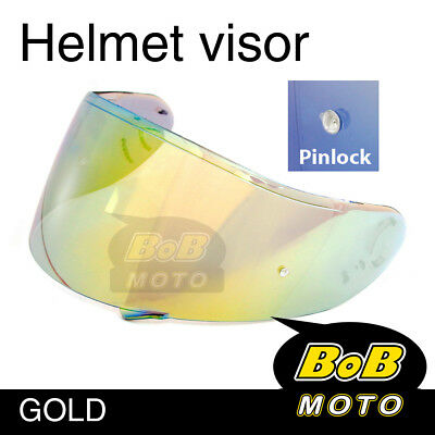Gold Tinted Shield Helmet Visor Pinlock Fit GT AIR Shoei Neotec GT-Air