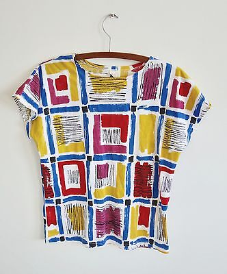 Vintage colourful pattern t-shirt