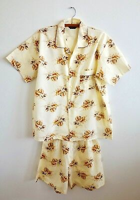 Vintage Western Horse and Carriage Pajamas Cotton Blend Large