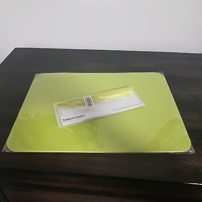 Tupperware Green Cutting Mat Board and Paring Knife **NEW**