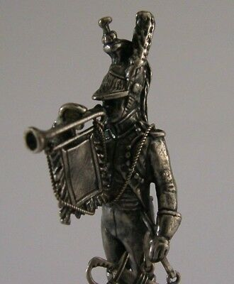 Quality Solid Sterling Silver Soldier Figure Statue Military Bugler 975